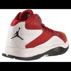 Red and white Jordan Court Vision 00 Size 13